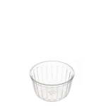160ml Clear Ribbed Container [MZ161R]